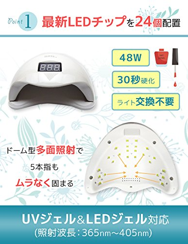 LaCurie『LED&UVネイルライト48W』