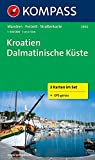 KOMPASS Wanderkarte Kroatien - Dalmatinische Küste: Wanderkarten-Set. GPS-genau. 1:100000: 3-delige Wandelkaart 1:100 000 (KOMPASS-Wanderkarten, Band 2900)