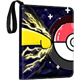 Trading Card Binder with Sleeves, 900 Pockets Zipper Binder Card Holder Collectors Album Folder Carrying Case with 50 Premium 18-Pocket Sheets Fit for TCG Baseball and Football Cards