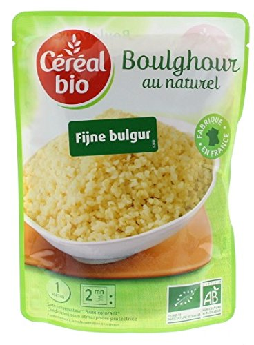 Céréal Bio Boulgour de Blé au Naturel - Sachet Micro-ondable, Rapide à Réchauffer - Végan et Bio - 250g - 200621