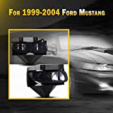 Fit for [1999-2004 Ford Mustang(except Cobra)] Bumper Driving Fog Lights, PC lens material 12V 37.5W with 2pcs