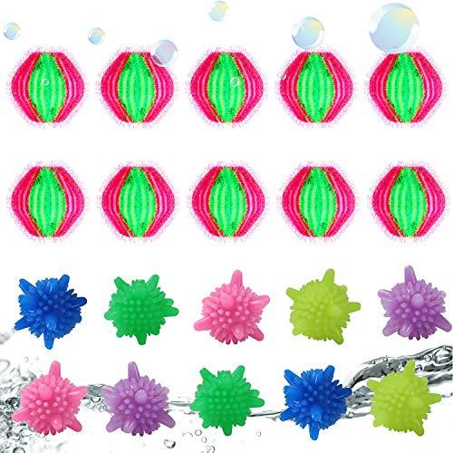 Tierhaarentferner Waschmaschine 10 Stück Waschkugeln 10 Stück Fusselbälle Waschkugel Flusenentferner Wäschereinigungskugeln Haarentfernung Dekontamination Magie Wäschekugeln