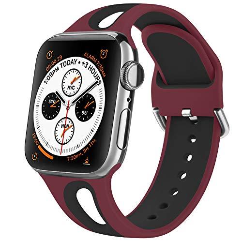 Fapi Cinturino Compatibile per Apple Watch Cinturino 38mm 40mm 42mm 44mm, Silicone Cinturini con Morbido Fori Traspiranti, Cinturino per iWatch Series 6 5 4 3 2 1 SE