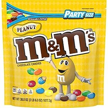 M&M s Peanut Party Size Giant  2lb 6oz Bag  Resealable