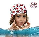 Cuffia da nuoto per bambini Cuffia da Bagno per Bambini Ragazzi e Ragazze Cuffie da Bagno Impermeabili per Bambini - Cappello da Nuoto vestibilità Comoda per Capelli Lunghi e Capelli Corti