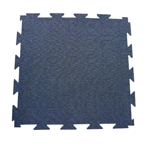 Rubber-Cal Terra-Flex Interlocking Flooring Rubber Tiles (5-Pack), Blue, 1/4 x 24 x 24-Inch