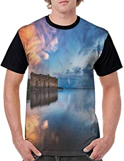 BlountDecor Casual Short Sleeve Graphic Tee Shirts,Victorian Fashion Shapes Fashion Personality Customization