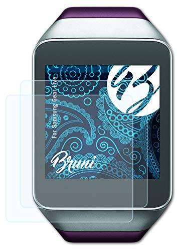 Bruni Schutzfolie kompatibel mit Samsung Gear Live Folie, glasklare Bildschirmschutzfolie (2X)