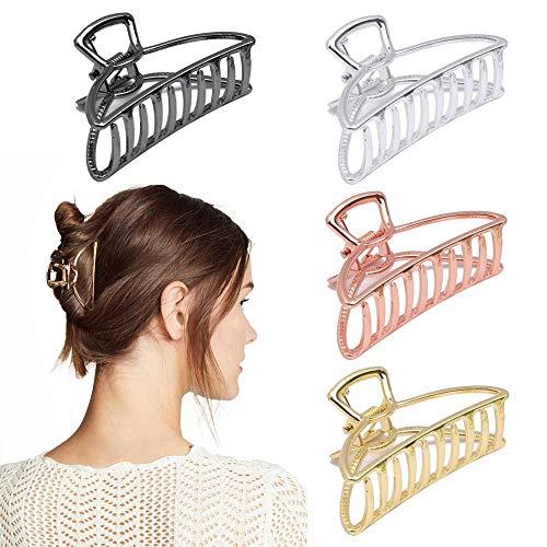 Klaue Clips Metall,Haargreifer Damen GroßGroße Haarklammer für Dicke Haare,Metall Haargreifer,Rutschfeste Haarnadel,Haar Klaue Haarspange,Elegant Haarspangen
