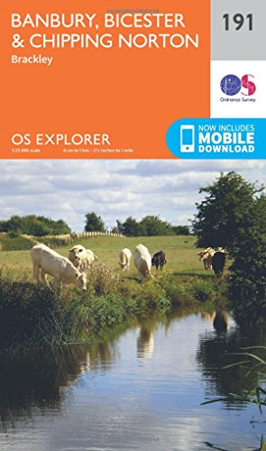 OS Explorer Map (191) Banbury, Bicester and Chipping Norton