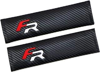 2 Funda 'FR' para cinturón de Fibra de Carbono para Hombro,Asiento de Estilo Racing