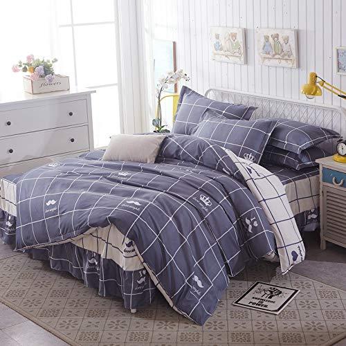 huyiming bed linings Utilizado para la Falda de la Cama en algodón de Aloe Vera Acolchado Colcha de Cuatro Piezas Colcha 1.5/1.8/2.0m 1.2mbed