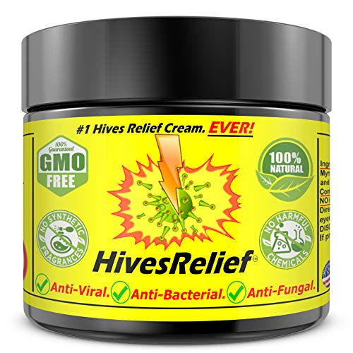 Hives Relief Cream for Adults Kids Best for Itch Hypoallergenic 100% Natural for Chronic Skin Rashes