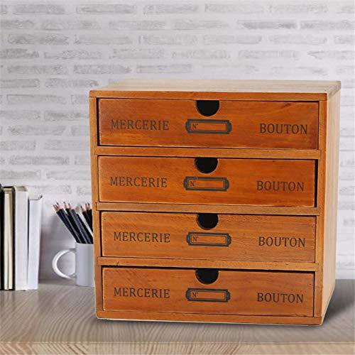 Ablerfly 123 - Cajón de almacenamiento de madera para el hogar, 4 capas
