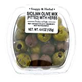 Fresh Pack Mixed Olive with Sicilian Herb, Pitted, 4.4 oz...