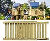 bambus-discount.com Holzbrücke für Basis Spielturm, Bausatz mit 113x180x89cm - Kinderspielgeräte...