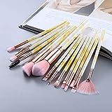 JJZXD Pinceles de Maquillaje Set para la Fundación Cosmetic Blush Eyeshadow Shoeshadow Mezcla Make Up Cepy Beauty Tool (Color : B)