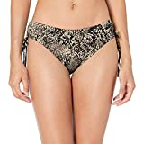Calvin Klein Women's Side Shirred Bikini Swimsuit Bottom, Brown, Large