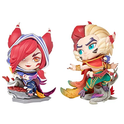 for League of Legends Spielfiguren, LOL Series Figuren/XAYAH/Rakan Statue, Exquisite und Resin Models kühlen, perfekte Kollektionen for Desktop-Platzierung oder Vitrinen