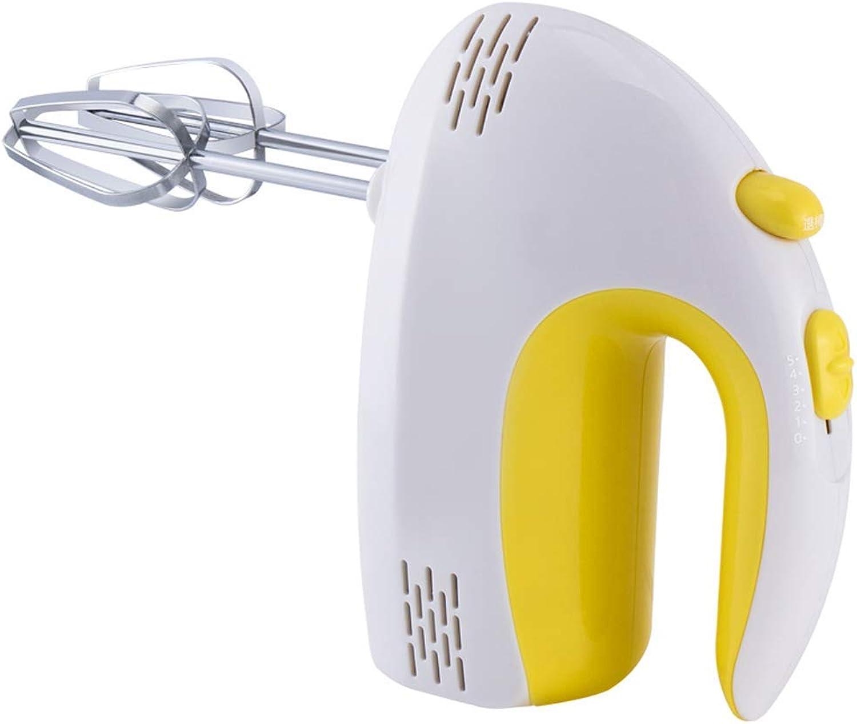 GBX Familia práctica Blender-Stand-Up Mixer Personalidad Pequeña Mini batidora de plástico de mano, 5 Control de velocidad, 120W Artículos para hornear en la cocina doméstica,Amarillo 4,19.5x9x16.5cm