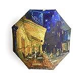 Paraguas Plegable Terraza de café por la Noche Vincent Van Gogh
