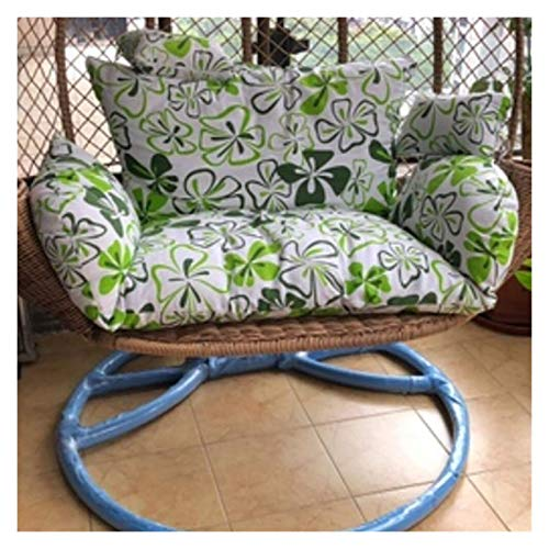 WANGLX Chair Cushion for Bedroom or Garden Furniture Large Double Hanging Egg Hammock Chair Cushion Without Stand Patio Swing Chair Cushion for Outside Egg Nest Chair Seat Cushion Room Decoration