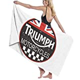 AGHRFH Triumph Motorrad Hotel und Spa Badetücher Mikrofaser Strandtücher für Reisen – Extra...