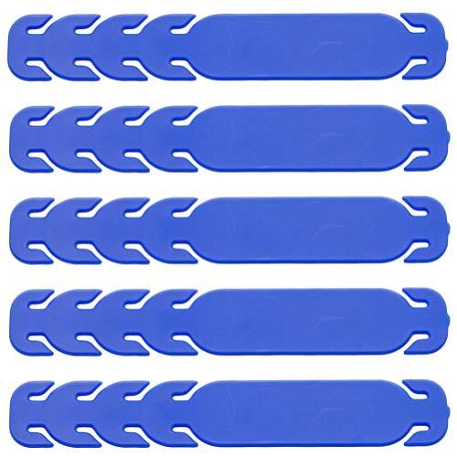 Artibetter 10 Stücke Silikon Ohrhaken Gummiband Headset Ohrbügel Ohrhalter Mundschutz Einstellbar Ohrschutz Ohrpolster DIY Ear Hook für Gesichtsschutz Extender Erweiterung