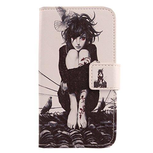 Lankashi PU Flip Leder Tasche Hülle Hülle Cover Schutz Handy Etui Skin Für Doogee Voyager2 Dg310 Roof Girl Design
