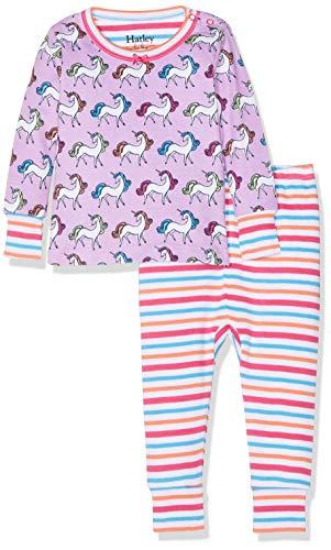 Hatley Organic Cotton Pyjama Sets Ensemble, (Multicoloured Rainbow Unicorns), (Taille Fabricant: 12-18 Mois) Bébé Fille