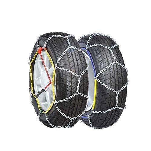 AWJ 2 Cadenas de Nieve para neumáticos, Cadenas de Nieve de Invierno para Ruedas de Coche, Cadena de tracción de neumáticos, Coche, Todoterreno, Furgoneta, SUV, Coche po