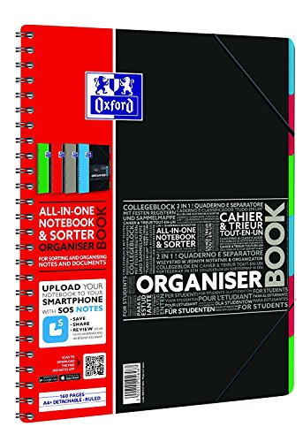 Organiserbook A4+ 80Bl lin. so OXFORD 400037404 Studium