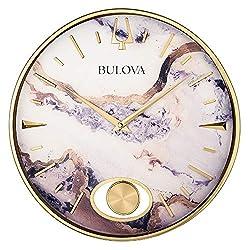 Bulova Stonemont Wall Clock, Gold