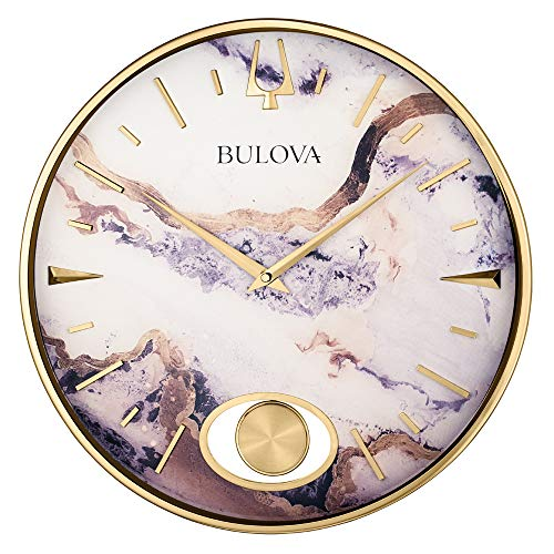 Bulova Stonemont Wall Clock, Gold