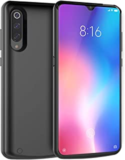 Compatible with Xiaomi Mi 9 Battery Case, Yuqoka 5000mAh Portable Protective Charging Case Rechargeable Backup Extended Battery Power Bank for Xiaomi Mi 9 Black