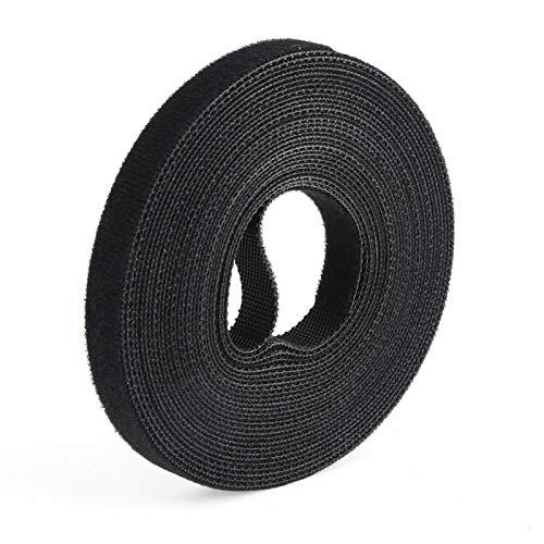 SHUAISHUAI Fácil de Usar Black Nylon Cable Ties Belting Velcros Adhesivo Cable...