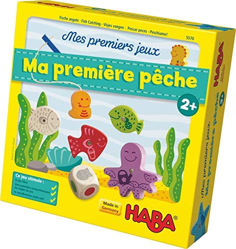 HABA Mes premiers jeux - Ma première pêche, jeu de pêche passionnant avec des figurines en bois colorées, jeu éducatif et jouets en bois à partir de 2 ans, jouets motorisés, 4983