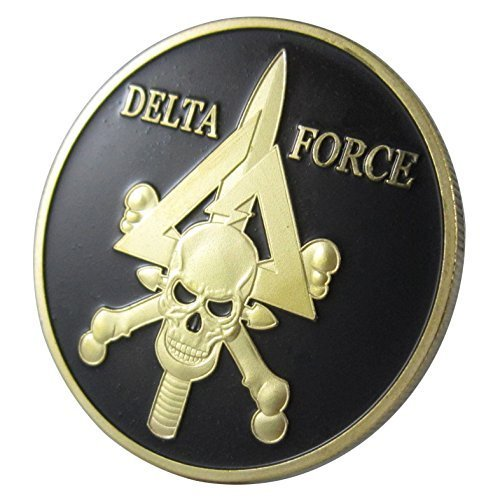 lovesports2013 US. Military Delta Force 24KT GP Challenge Coin 1040#
