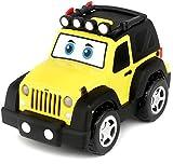 Bburago Junior- Jeep Luci e Suoni, Colore giallla, 16-81201