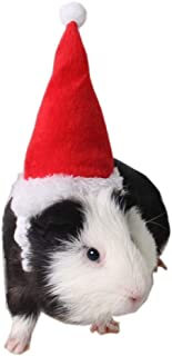 Guinea Pig Holiday and Christmas Hat, Puppy Dog Santa Hat Costume Christmas Collection Pet Accessory for Cat Rabbit Hamster Guinea Pig, Small, Red
