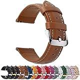 Fullmosa 14mm 16mm 18mm 19mm 20mm 22mm 24mm Bracelet Montre en Cuir Véritable, 12 Couleurs Axus Montre Bracelet à Dégagement Rapide,20mm Brun
