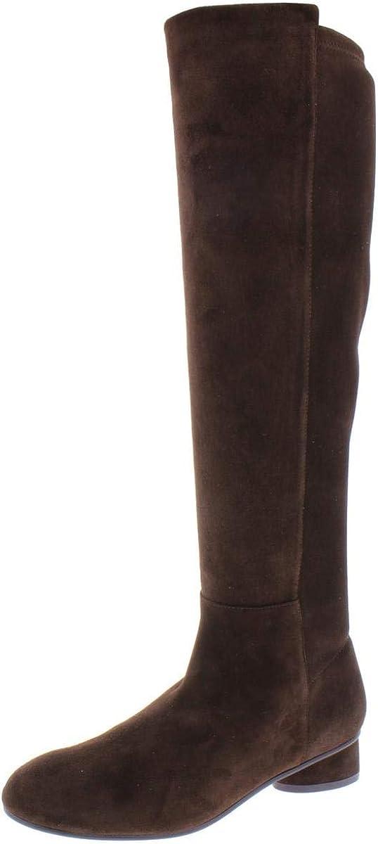 Stuart Weitzman Womens Eloise 30 Suede Low Heel Knee-High Boots