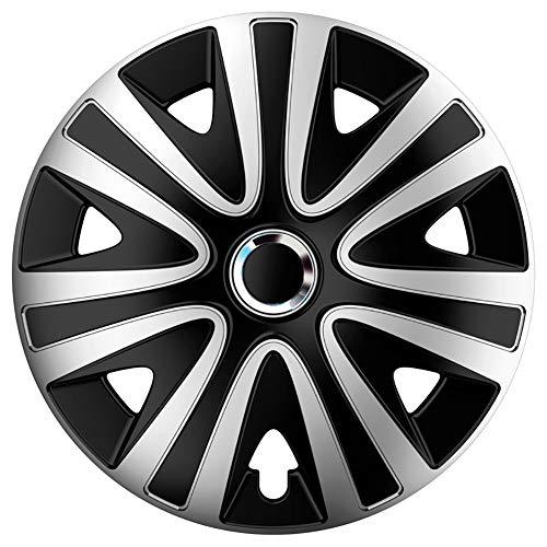 AUTOSTYLE Jeu d'enjoliveurs Rialto Pro 16-inch argent/noir