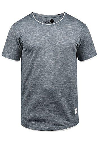 !Solid Rigos Herren T-Shirt Kurzarm Shirt Mit Rundhalsausschnitt Im Double-Layer-Look Aus 100{60fdd717d3b01ba73708b5faadbc6353c9de874e291fd4c660e26ca3be2eb3a8} Baumwolle, Größe:L, Farbe:Insignia Blue (1991)