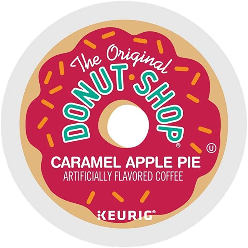The Original Donut Shop Caramel Apple Pie Coffee Single Serve Capsules For Keurig K Cup Pod Brewers 24 Count