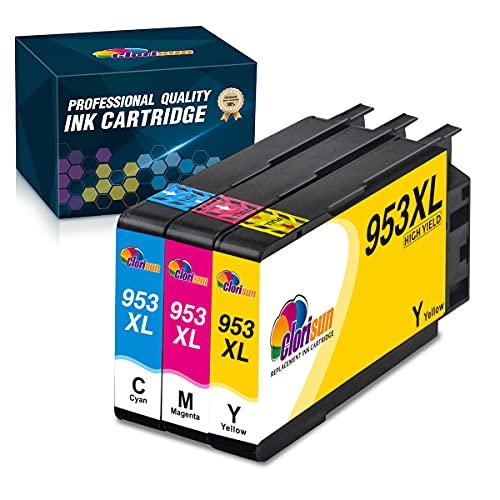 Clorisun 953XL Patronen Ersatz für HP 953 XL Multipack Druckerpatronen Kompatibel mit HP Officejet Pro 8730 7740 7720 8710 8720 8210 7730 8715 8725 8218 8740 8718 8728 (1 Cyan, 1 Magenta, 1 Gelb)