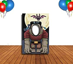 Frankenstein and Bat Hole in Face Banner, Medium, Face Cutout, Party Selfie Photo Prop, Birthday Decoration
