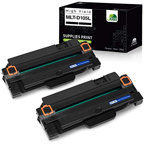 JARBO Compatible Toner Cartridges Replacement for Samsung 105L MLT-D105L MLT105L, Use with Samsung ML-2525W ML-2525 ML-2545 ML-1915 SCX-4623F SCX-4623FW SCX-4623FN SF-650 SF-650P Printer, 2 Black