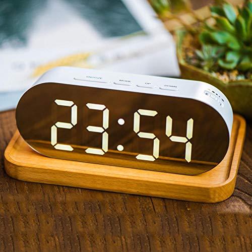Alarmklocker8B LED wekker 12/24 uur omzetting elektronische klok grote digitale klok digitale klok huishoudtextiel helderheidsinstelling wit