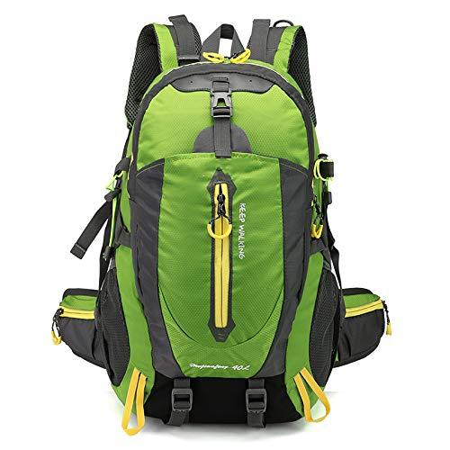 WMC Sac à Dos de randonnée, matériel de Camping 40L étanche Sac à Dos Randonnée Sports de Plein air Sac à Dos Voyage Camping Randonnée Sac à Dos,Vert